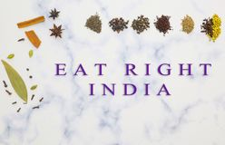 Concept of Right India Movement campaign launched by Indian Government to promote health and sustainability