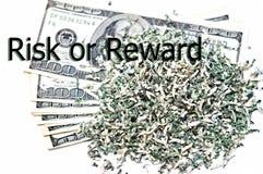 Concept/risque ou récompense financier Image stock