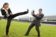 Concept of rivalry Royalty Free Stock Photo