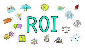 Concept of roi. Illustration of a roi concept Stock Photography