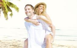 Concept Romance d'île d'amour de plage de couples Photo stock