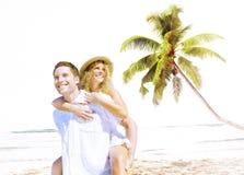 Concept Romance d'île d'amour de plage de couples Photos stock