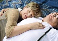 Concept Romance d'amour de couples supérieurs pluss âgé Photos stock