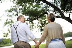 Concept Romance d'amour de couples supérieurs pluss âgé Images libres de droits