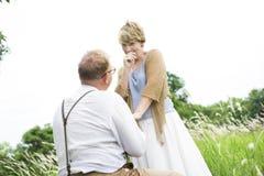 Concept Romance d'amour de couples supérieurs pluss âgé Image stock