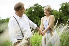 Concept Romance d'amour de couples supérieurs pluss âgé Photo libre de droits