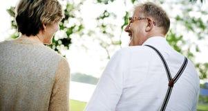 Concept Romance d'amour de couples supérieurs pluss âgé Image libre de droits