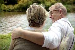Concept Romance d'amour de couples supérieurs pluss âgé Photos libres de droits