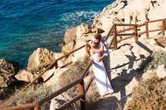 Concept Romance d'unité de plage d'amour de couples Photos libres de droits