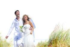 Concept Romance de mariage d'amour de plage de couples Images stock