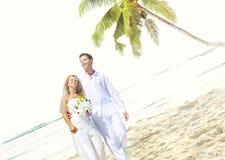 Concept Romance de mariage d'amour de plage de couples Image stock
