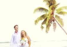 Concept Romance de mariage d'amour de plage de couples Photographie stock