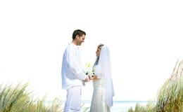 Concept Romance de mariage d'amour de plage de couples Photo libre de droits
