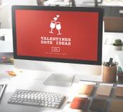 Concept Romance de pain grillé de datation d'amour d'idées de date de valentines Photographie stock
