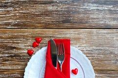 Concept romantique de dîner d'amour Photos libres de droits