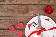 Concept romantique de dîner Fond de Saint Valentin ou de proposition Photos libres de droits