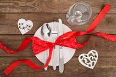 Concept romantique de dîner Fond de Saint Valentin ou de proposition Images libres de droits