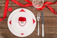 Concept romantique de dîner Fond de Saint Valentin ou de proposition Photographie stock