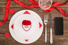 Concept romantique de dîner Fond de Saint Valentin ou de proposition Image stock