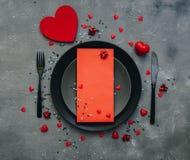 Concept romantique de dîner Fond de Saint Valentin ou de proposition Photo stock