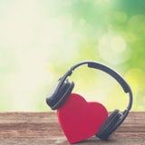 Concept romantique de musique Photographie stock libre de droits
