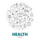 Concept rond de santé Photographie stock