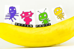 The concept of rotten fruit Stock Photos