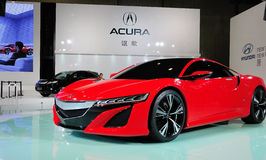 Concept rouge d'Acura NSX photographie stock