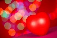 Concept rouge d'amour de coeur pour le jour de valentines Images libres de droits