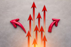 Concept rouge de Business du Chef de flèche Le Chef rouge Business c de flèche Photo stock