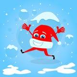 Concept rouge de Santa Hat Christmas Cartoon Character Images stock