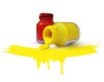Concept rouge et jaune coloré Images libres de droits