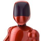 Concept rouge futuriste de cyborg de robot Photographie stock