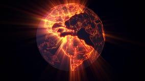 Concept rougeoyant de World Wide Web de la terre illustration stock