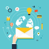 concept of running email campaign, email advertising, Stock Photo