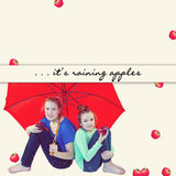 Concept - It's Raining Apples Background Royalty Free Stock Photos