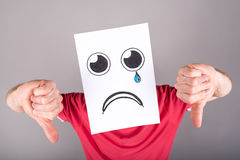 Concept of sadness Stock Image