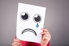 Concept of sadness Stock Images