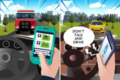 Concept of safe driving Royalty Free Stock Photos
