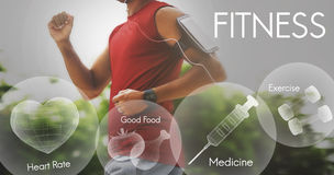 Concept sain de bien-être d'exercice de forme physique de soins de santé Photos libres de droits