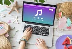 Concept sain de lecteur multimédia de musique image libre de droits