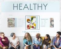 Concept sain de nutrition de mode de vie de bien-être de nourritures Images stock