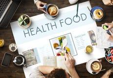 Concept sain de nutrition de mode de vie de bien-être de nourritures Image libre de droits