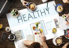 Concept sain de nutrition de mode de vie de bien-être de nourritures Photo libre de droits