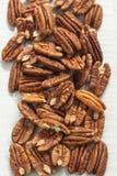 Concept sain de vue supérieure de noix de pécan Photo stock