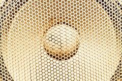Concept sain - instruction-macro sur le haut-parleur sonore Photos libres de droits