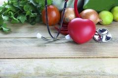 Concept sain, légume et fruit de foyer avec la feuille et le docteur d'oreille o d'herbe Photo libre de droits