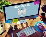 Concept saint d'église de sagesse de spiritualité de religion de sainteté image libre de droits