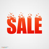 Concept sale banner with percent. Stock Photos