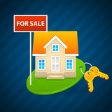 Concept sale of country houses Royalty Free Stock Photo